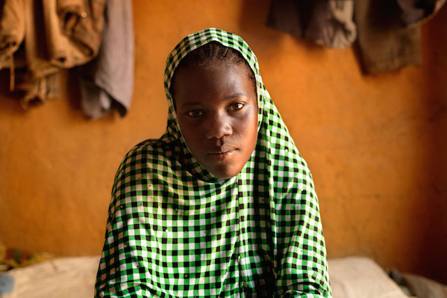 Nafissa, 17 from Niger, was married at 16. Three months after marrying she became pregnant. She gave birth to a still born baby. Photo: UNICEF/Marieke van der Velden.