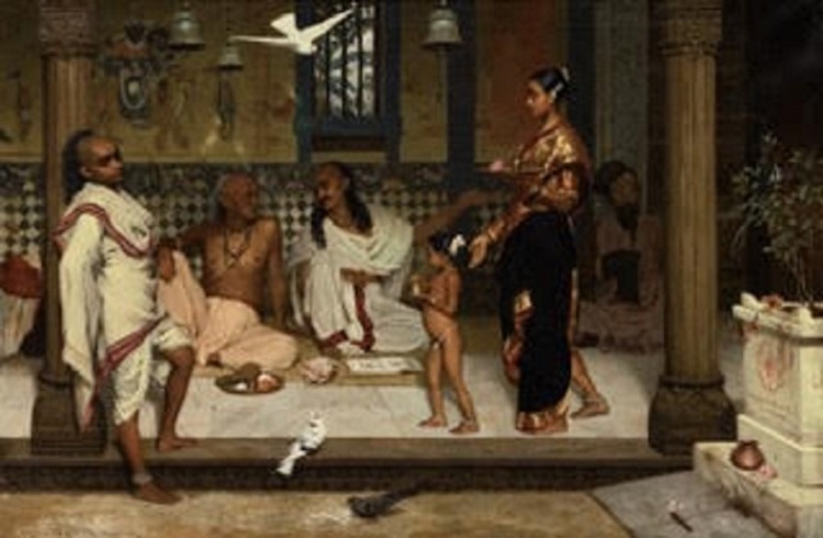 "Artist Horace Van Ruith's Untitled (A Brahmin Household) ""Courtesy Sotheby's"