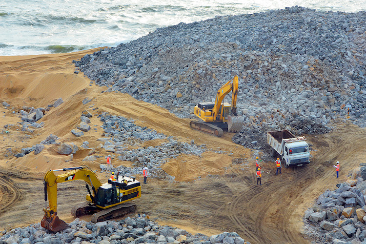 Photo: The US$1.4 billion Port City project in Colombo, Sri Lanka. Credit: China Dialogue | Shehan Gunasekara