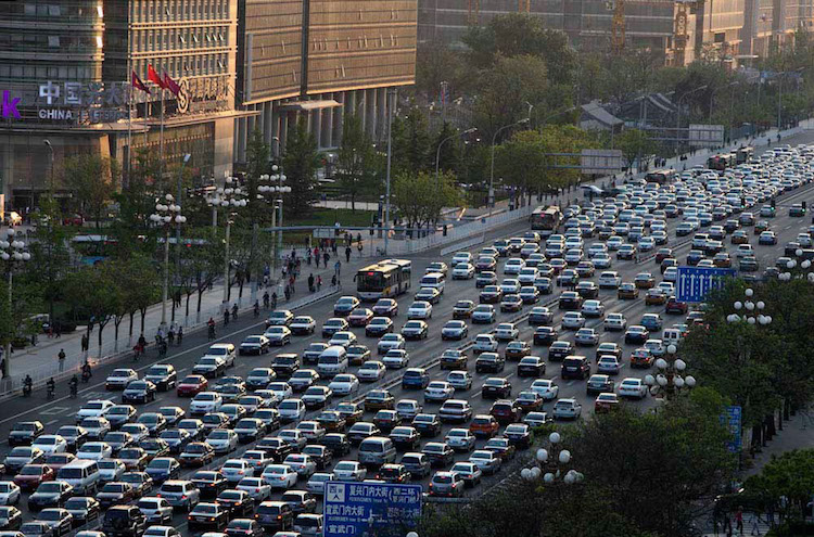 Photo: Chang'an avenue in Beijing. Source: Wikimedia Commons.