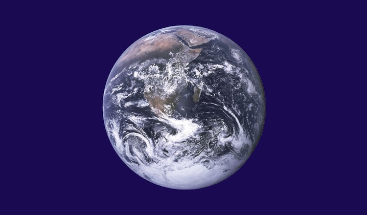 Image: A NASA image of the Earth. Public Domain.