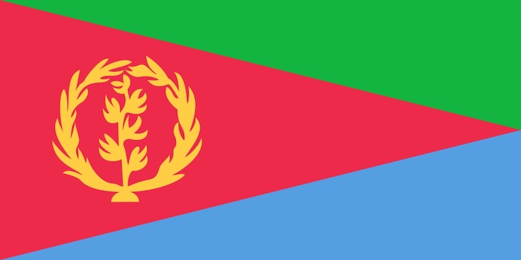 Photo: Flag of Eritrea. Credit: Wikimedia Commons.