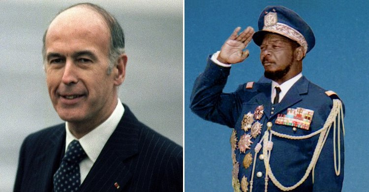 Photo: Late French President Valéry Giscard d'Estaing and 'Emperor' Bokassa of the Central African Republic.