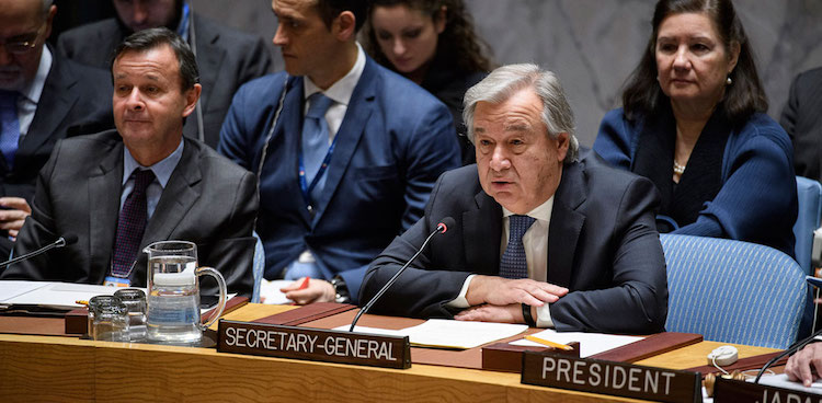 Photo: António Guterres, United Nations Secretary-General, at the Security Council meeting on Non-proliferation/Democratic People's Republic of Korea on December 15, 2017. Credit: UN Photo/Manuel Elias.