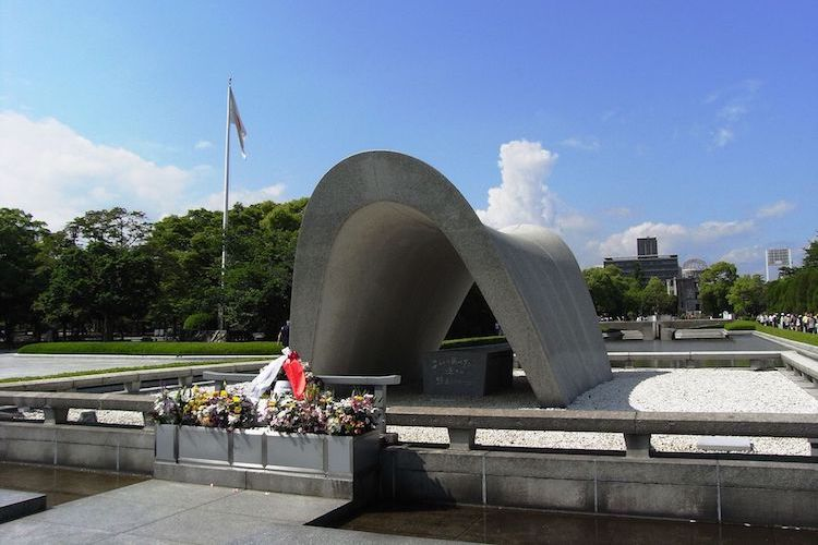 "Photo: Hiroshima Peace Memorial Park (Credit: Wikimedia Commons) close to the main building of Hiroshima Peace Memorial Museum, which ICAN Chief Beatrice Fihn visited, and wrote in the Museum's guestbook: "". . .  Hiroshima is a city of hope, and ICAN will work with you to see the end of nuclear weapons."""