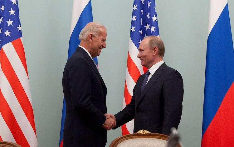 Photo: Now-U.S. President Joe Biden and Russian President Vladimir Putin in 2011 at the Russian White House, in Moscow. (Official White House Photo by David Lienemann)