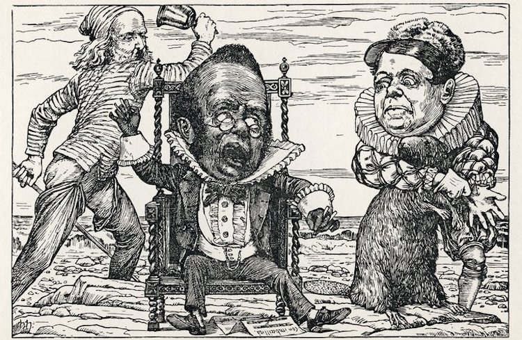 "Image: The Banker's Fate from Henry Holiday's original illustrations to ""The Hunting of the Snark"" by Lewis Carroll. (1876). Credit: Wikicommons. Public Domain"