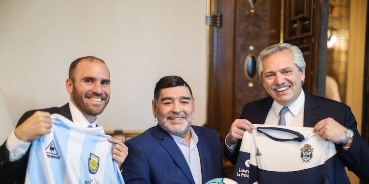 Photo: Maradona visited Argentina's new president Alberto Fernández (right) on 26 December 2019. CC BY 4.0