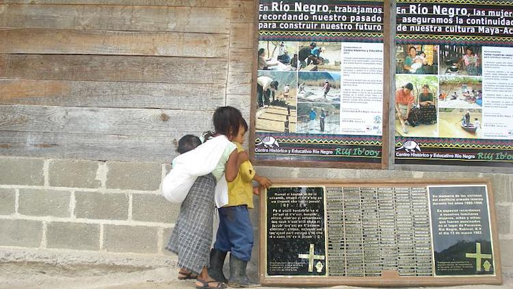Photo: Memorial to the victims of the Río Negro massacres in Guatemala. CC BY 2.0