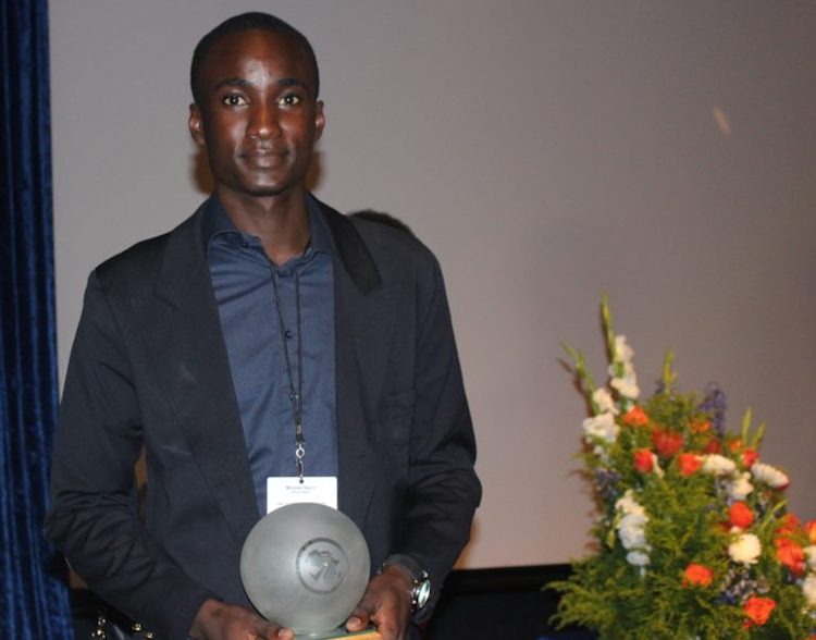 Photo: Winner of the new student category, Moussa Ngom attending CESTI, Senegal. Photo: Hyppolite Valdez Onanina