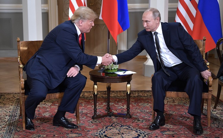 Photo: U.S. President Donald Trump with Russian counterpart Vladimir Putin in Helsinki on 16 July 2018. Credit: website of the President of the Russian Federation.