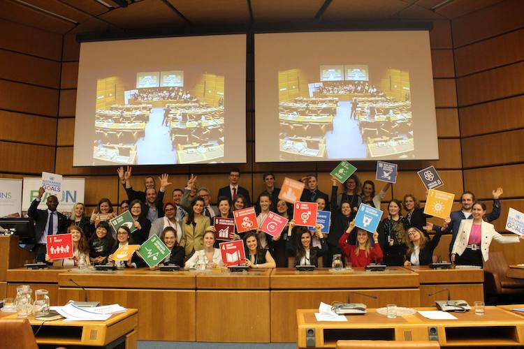 Photo: 2017-2018 Graduation students of the Regional Academy on the United Nations (RAUN). Credit: RAUN