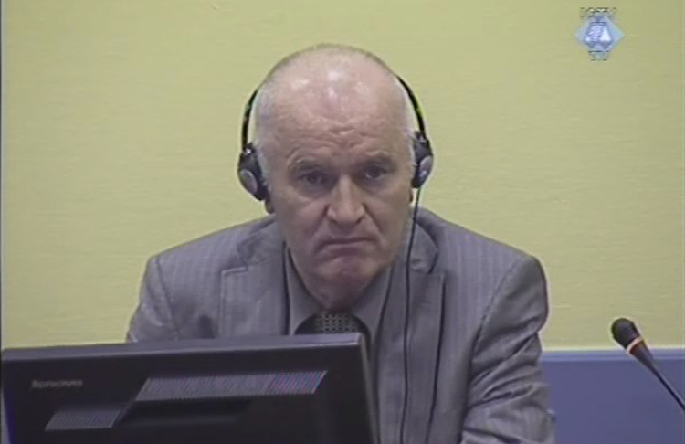 Photo: General Ratko Mladic, convicted after 22 years, in the International Criminal Tribunal for the Former Yugoslavia in June 2011
