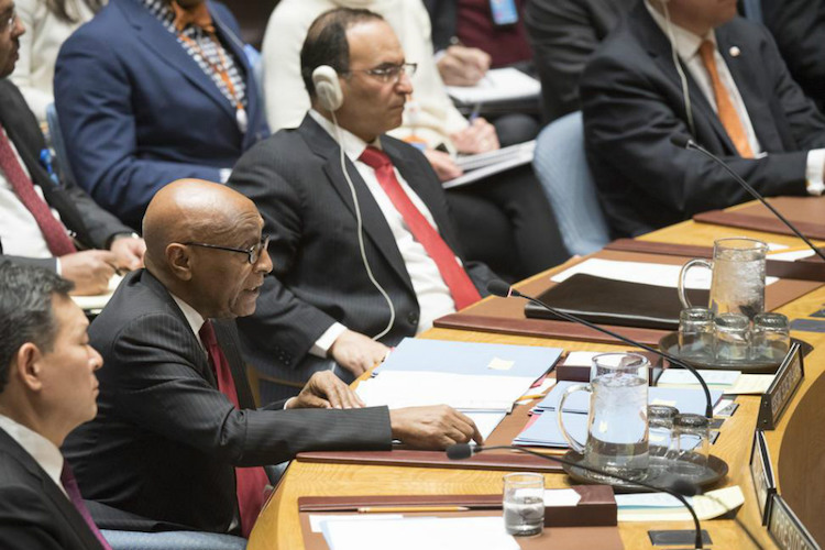 Photo: Tayé-Brook Zerihoun, Assistant Secretary-General for Political Affairs, briefing the Security Council on the situation in the Middle East on 5 January 2018. UN Photo/Eskinder Debebe