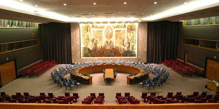 Photo: The United Nations Security Council Chamber in New York, also known as the Norwegian Room. CC BY-SA 2.0