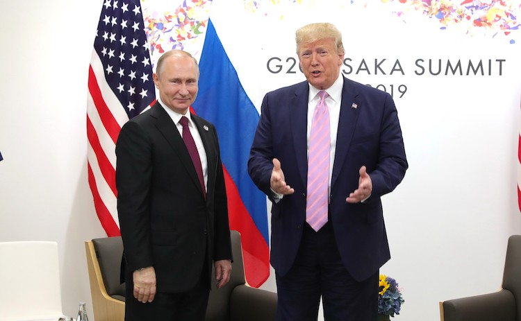 Photo: Vladimir Putin and Donald Trump meeting during G7 Summit on Osaka on June 28. Credit: Kremlin.ru