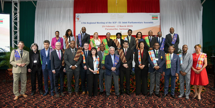Photo: 17th regional meeting of ACP-EU Parliamentarians in Suriname. Credit: European Parliament