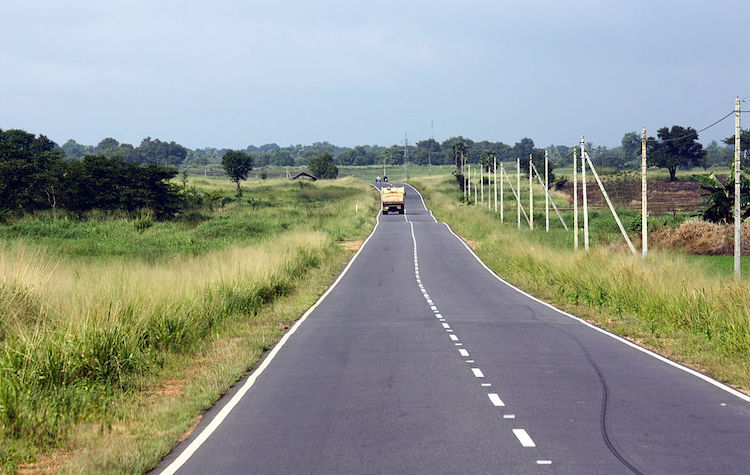 Photo: Polonnaruwa Road near Punani, a small hamlet in Sri Lanka's Batticaloa district. CC BY-SA 3.0