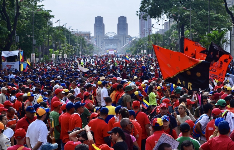 Photo: The Chavista march was one of the biggest in years. Credit: Rachael Boothroyd Rojas/Venezuelanalysis
