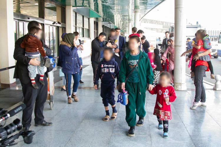 Photo: Kazakh children back from Iraqi prisons. Credit: The Astana Times.