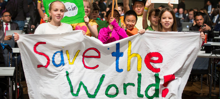Photo: Youth attending the United Nations Climate Change Conference in Bonn, Germany. Credit: UNFCCC