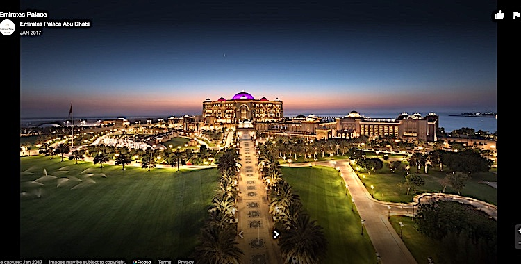 Photo: Emirates Palace, Abu Dhabi, venue of the UNIDO General Conference November 3-7, 2019.