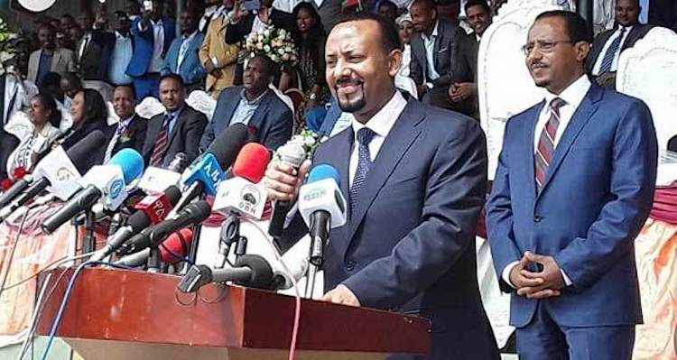 Photo: Ethiopian PM Abiy Ahmed wants the diaspora to tear down the wall of hatred and bring home the culture of innovation. Source: ECADF