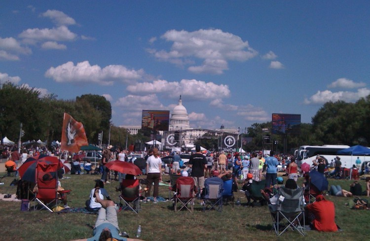 Photo: Evangelical prayer rally in Washington, D.C., in 2008. Credit: Creative Commons