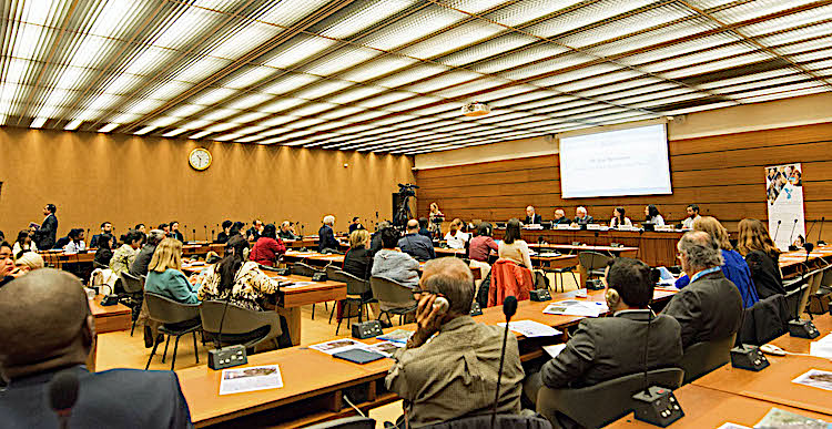 Photo: Geneva Centre debates 'Migration and Human Solidarity'. Credit: Geneva Centre for Human Rights Advancement and Global Dialogue.