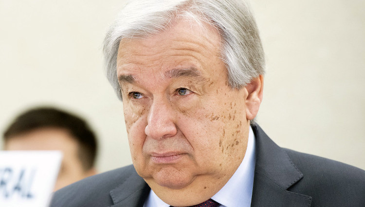 Photo: UN Secretary-General António Guterres attends the High Level Segment of the 43rd Regular Session of the Human Rights Council in Geneva. Credit: UN Photo/Violaine Martin