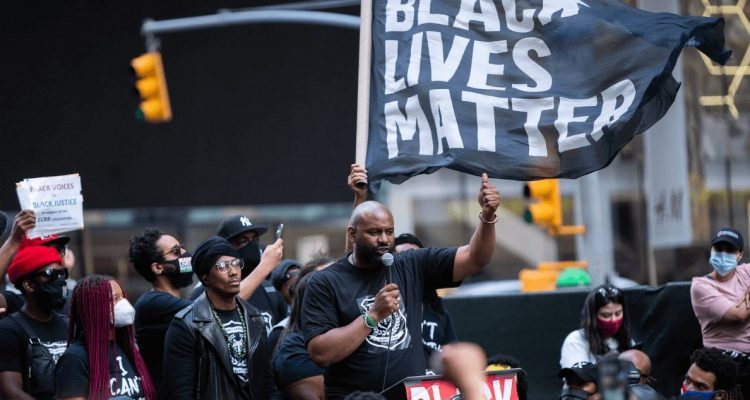 Photo: Anthony Quintano | Black Lives Matter Protest Times Square New York City June 7 2020. CC License via Flickr. Source: UN Dispatch Podcast.