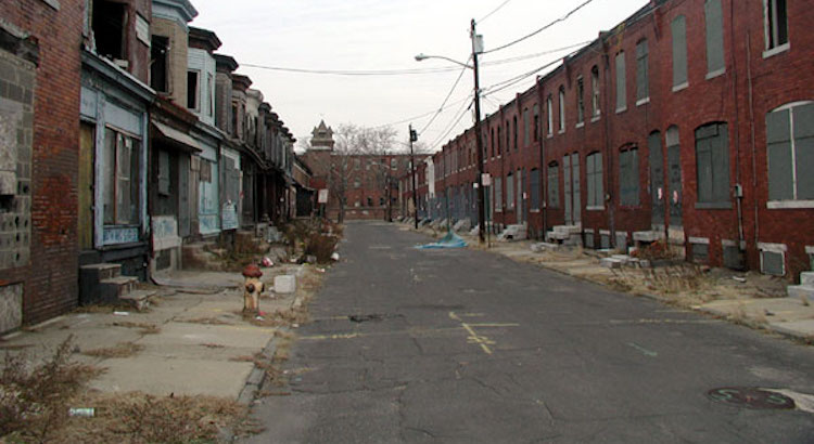 Photo: Camden, New Jersey is one of the poorest cities in the United States. Source: Wikimedia Commons. (Created 25 November 2009)