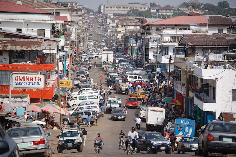 Downtown Monrovia | Credit: Wikimedia Commons