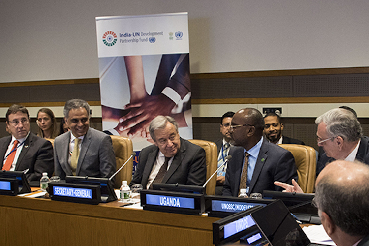 Photo: First Anniversary Commemoration of the India-UN Development Partnership Fund. Credit: UNOSSC