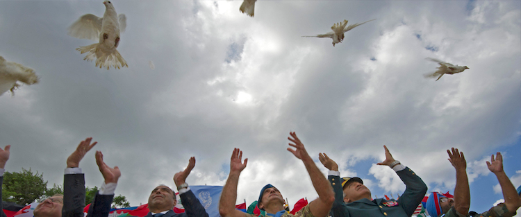 Photo: The United Nations Interim Force In Lebanon (UNIFIL) commemorates the International Day of Peace by releasing doves, a symbol of peace. UN Photo/Pasqual Gorriz