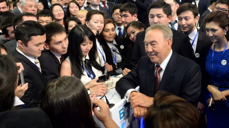 Photo: Kazakh President Nursultan Nazarbayev announced 2019 as the year of youth. Credit: assembly.kz