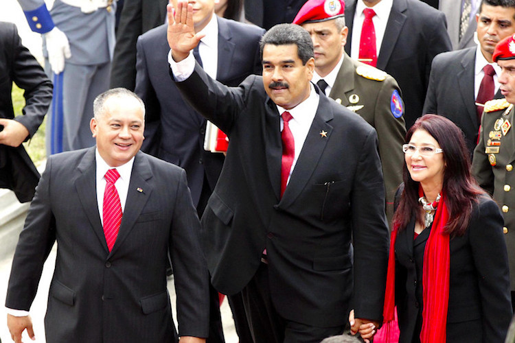 "Photo: Venezuelan President Nicolas Maduro said the White House had ""ordered and planned"" a ""coup"". Credit: cancilleria.gob.ec"