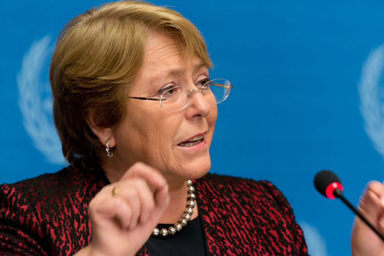 Photo: UN High Commissioner for Human Rights Michelle Bachelet (file photo) ILO/M. Creuset