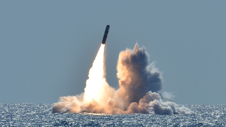 Photo: Trump's new apparently low-yield nuclear warhead entered production in 2019. Credit: Ronald Gutridge/U.S. Navy.