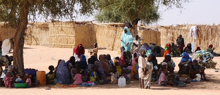 Photo: Nigerian refugees in Gagamari camp, Diffa region, Niger. Violence inflicted by the terrorist group Boko Haram from northern Nigeria has destabilised the entire region and caused large scale displacements of people. Photo: EU/ECHO/Anouk Delafortrie