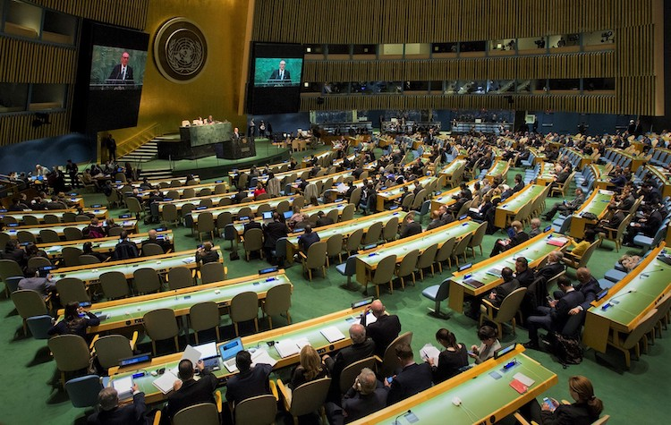 Photo: Opening session of the 2015 NPT Review Conference. Credit: UN photo/Loey Felipe