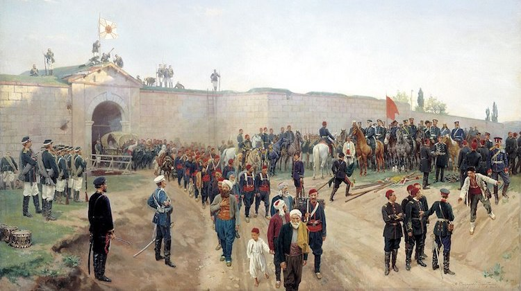 Photo: Ottoman capitulation at Nikopol, 1877. Credit: Nikolai Dmitriev-Orenburgsky | Wikimedia Commons.
