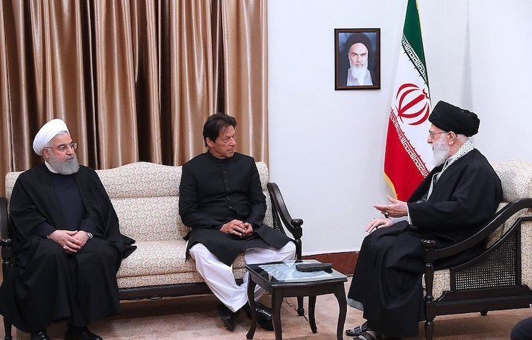 Photo: Pakistan PM Imran Khan –is believed to be a staunch supporter of women empowerment – met with Ali Khamenei and Hassan Rouhani in April 2019. CC BY 4.0