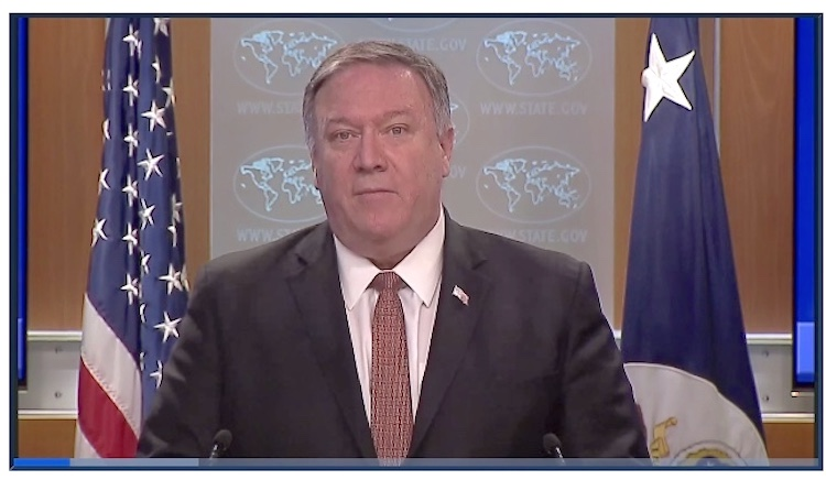 Photo: U.S. Secretary of State Mike Pompeo repeats threats to ICC. Credit: U.S. Department of State.