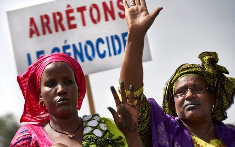 Photo: Malian women protesting massacre of Fulanis. Credit: Hilltop Monitor