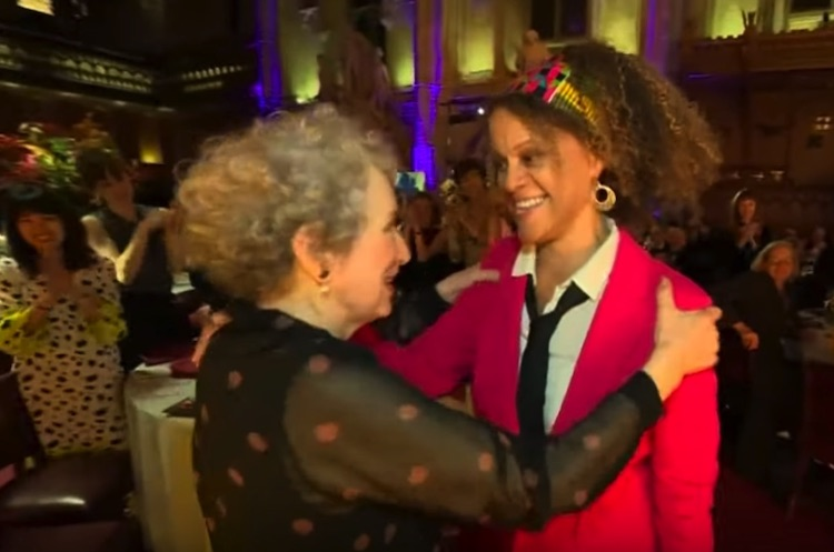Photo: Canadian author Margaret Atwood  (left) and British author Bernardine Evaristo (right) have split the Booker Prize, after the judging panel ripped up the rule book and refused to name one winner for the prestigious fiction trophy. Source: Screenshot of YouTube of CBC/Radio-Canada.