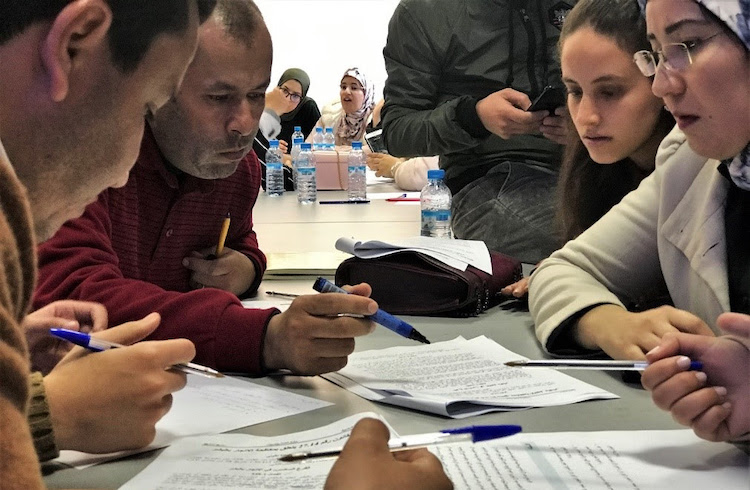 Photo: Law students of USMBA, university named after Sidi Mohamed Ben Abdellah, a 18th century Sultan of Morocco, participate in skills-building workshops in preparation for opening a law clinic. February 2020, High Atlas Foundation.