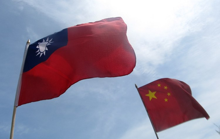 Photo: Flags of the Republic of China (Taiwan) and the People's Republic of China. CC BY-SA 4.0