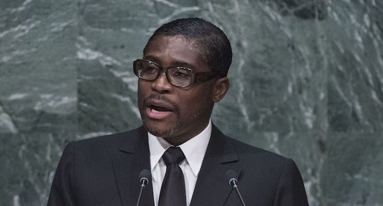 Photo: Equatorial Guinea President's son and Vice-President Teodoro Nguema Obiang cropped while addressing the general debate of the UN General Assembly's seventieth session on 30 September 2015. Credit: UN Photo/Amanda Voisard