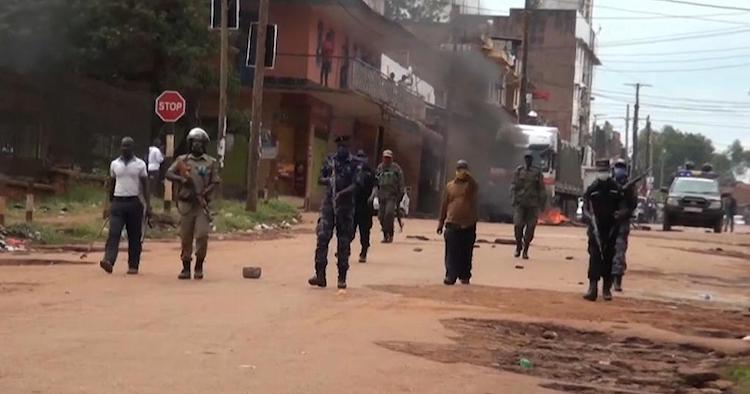 Photo: The police shoots Uganda protesters. Credit: Africa Global Village.